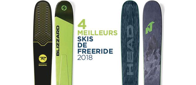 4 meilleurs skis de Freeride 2018