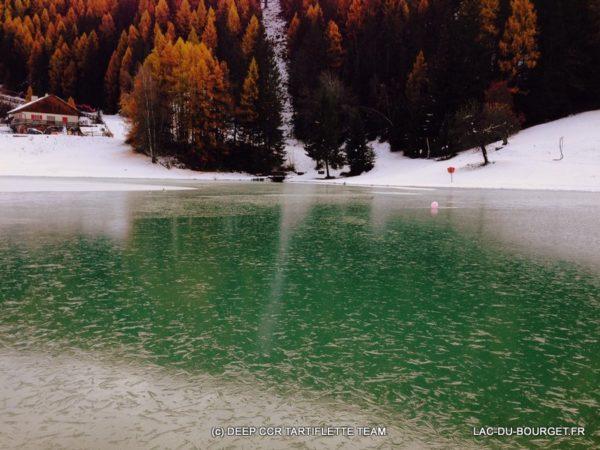 Lac gelé du Praz à Courchevel