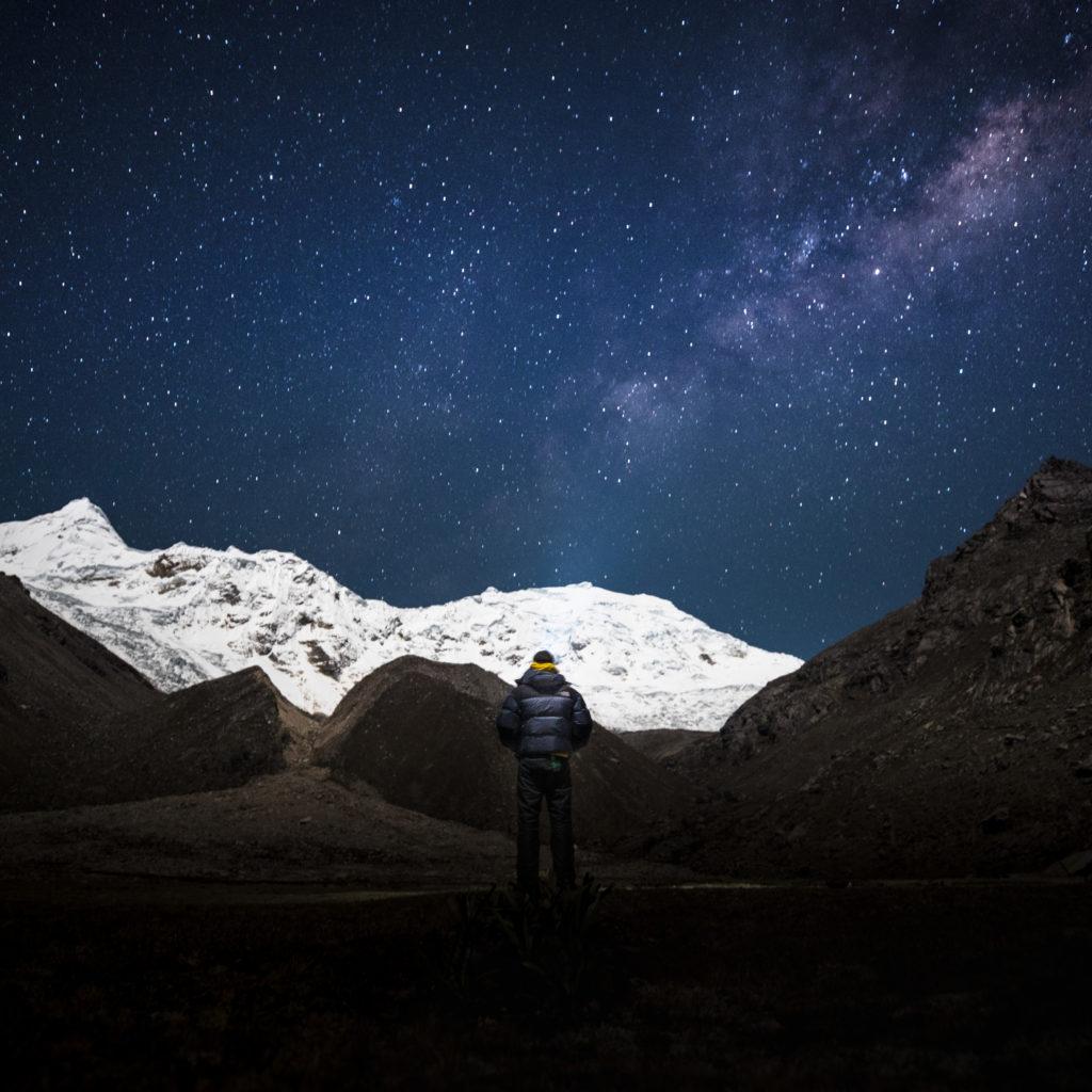 Nuit étoilée au camp de base