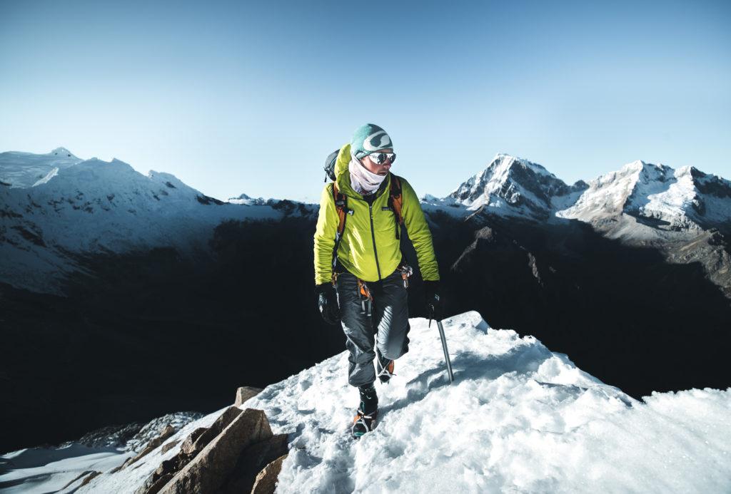 Matheo Jacquemoud au sommet du Nevado Urus à 5420 m