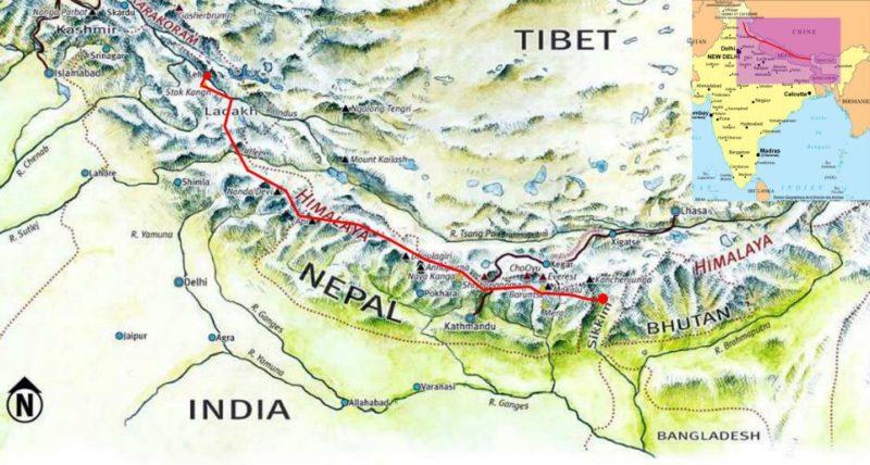 Une haute route himalayenne des plus grands Treks népalais et indiens de l'Himalaya