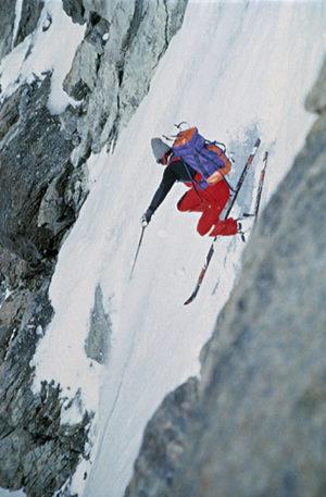 Jean Marc Boivin skieur de l'extrême dans les pentes raides