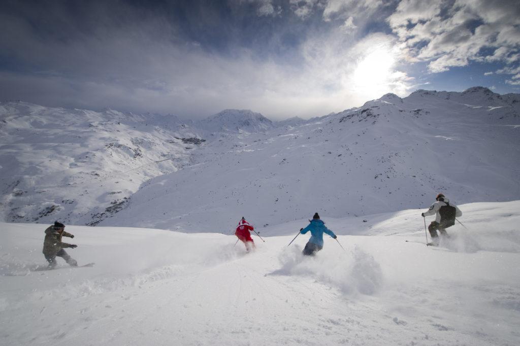 Ski Hors piste au mont du Chat 3 Vallées