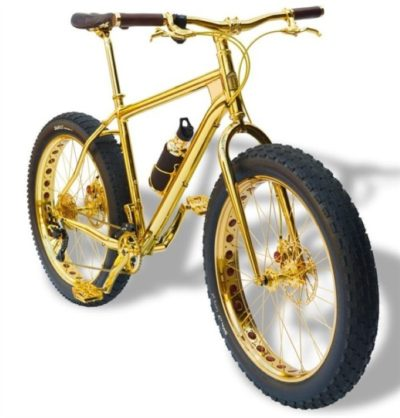 Mountain bike le plus cher House of Solid Gold 24k Gold Extreme