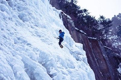 Escalade sur glace au Japon