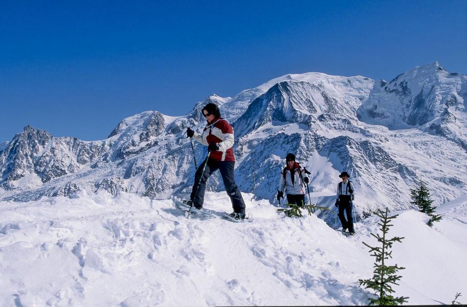 Raquette à neige à Chamonix