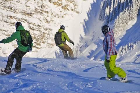 Snowboard en hors piste